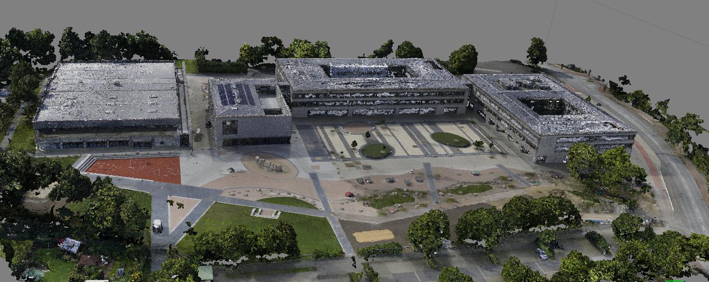 3 D Punktwolke - generiert aus einer Luftbildbefliegung